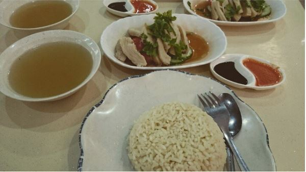 White Chicken Rice Set
