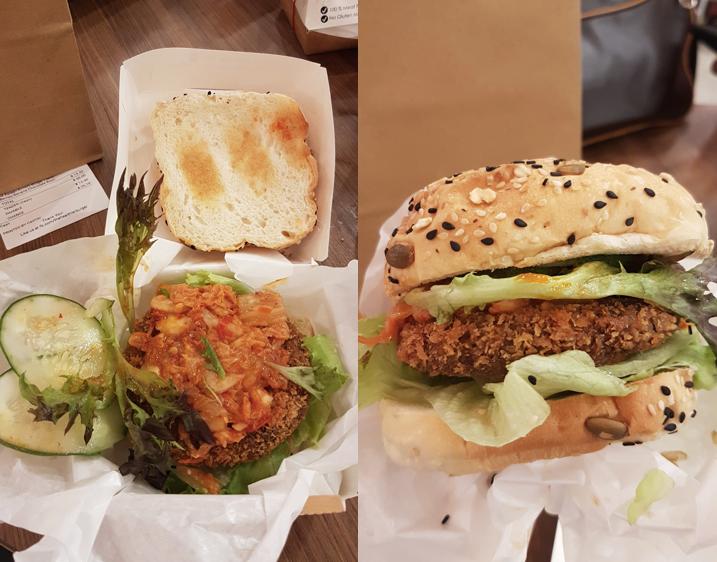Korean Kimchi Burger